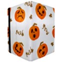 Funny Spooky Halloween Pumpkins Pattern White Orange Apple iPad Pro 10.5   Flip Case View3