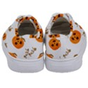 Funny Spooky Halloween Pumpkins Pattern White Orange Kids  Classic Low Top Sneakers View4