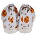 Funny Spooky Halloween Pumpkins Pattern White Orange Men s Mid-Top Canvas Sneakers View4