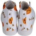 Funny Spooky Halloween Pumpkins Pattern White Orange Kid s Hi-Top Skate Sneakers View4