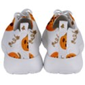 Funny Spooky Halloween Pumpkins Pattern White Orange Men s Lightweight Sports Shoes View4