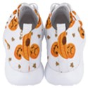 Funny Spooky Halloween Pumpkins Pattern White Orange Men s Lightweight High Top Sneakers View4