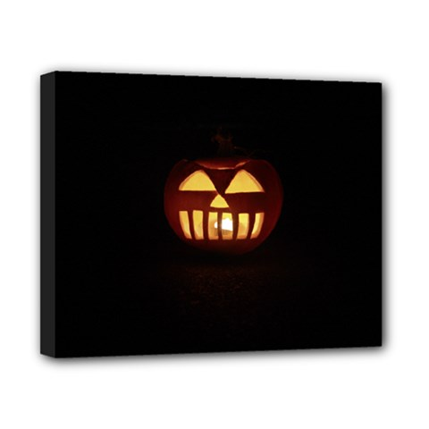 Funny Spooky Scary Halloween Pumpkin Jack O Lantern Canvas 10  X 8  (stretched)