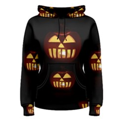 Funny Spooky Scary Halloween Pumpkin Jack O Lantern Women s Pullover Hoodie by HalloweenParty