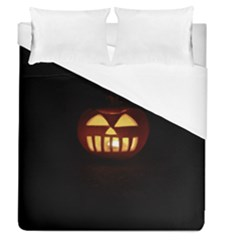 Funny Spooky Scary Halloween Pumpkin Jack O Lantern Duvet Cover (Queen Size)