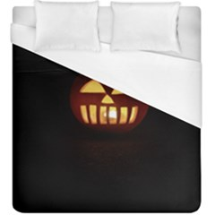 Funny Spooky Scary Halloween Pumpkin Jack O Lantern Duvet Cover (king Size)
