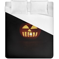 Funny Spooky Scary Halloween Pumpkin Jack O Lantern Duvet Cover (california King Size)