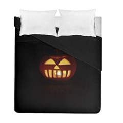 Funny Spooky Scary Halloween Pumpkin Jack O Lantern Duvet Cover Double Side (Full/ Double Size)