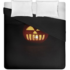 Funny Spooky Scary Halloween Pumpkin Jack O Lantern Duvet Cover Double Side (king Size)