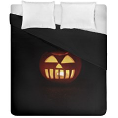 Funny Spooky Scary Halloween Pumpkin Jack O Lantern Duvet Cover Double Side (california King Size)