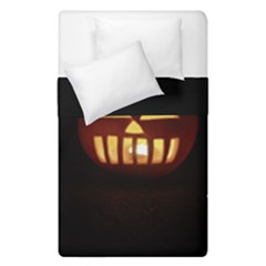 Funny Spooky Scary Halloween Pumpkin Jack O Lantern Duvet Cover Double Side (single Size) by HalloweenParty