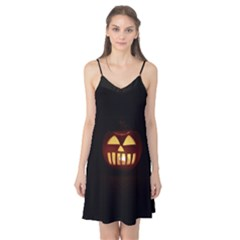 Funny Spooky Scary Halloween Pumpkin Jack O Lantern Camis Nightgown