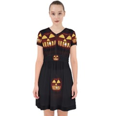 Funny Spooky Scary Halloween Pumpkin Jack O Lantern Adorable In Chiffon Dress
