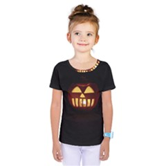 Funny Spooky Scary Halloween Pumpkin Jack O Lantern Kids  One Piece Tee