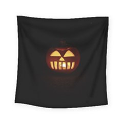 Funny Spooky Scary Halloween Pumpkin Jack O Lantern Square Tapestry (Small)