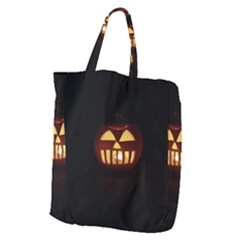 Funny Spooky Scary Halloween Pumpkin Jack O Lantern Giant Grocery Tote