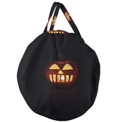 Funny Spooky Scary Halloween Pumpkin Jack O Lantern Giant Round Zipper Tote by HalloweenParty