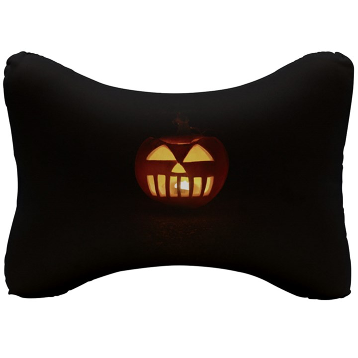 Funny Spooky Scary Halloween Pumpkin Jack O Lantern Seat Head Rest Cushion