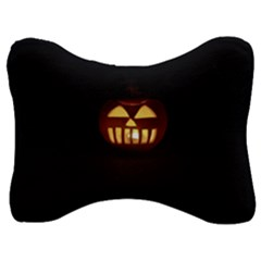 Funny Spooky Scary Halloween Pumpkin Jack O Lantern Velour Seat Head Rest Cushion