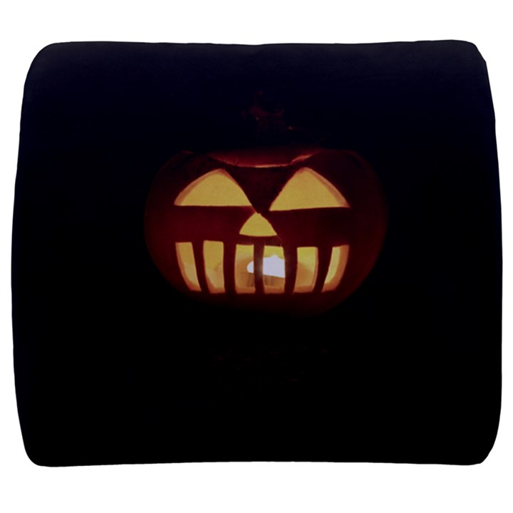 Funny Spooky Scary Halloween Pumpkin Jack O Lantern Back Support Cushion