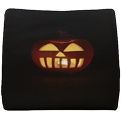 Funny Spooky Scary Halloween Pumpkin Jack O Lantern Seat Cushion by HalloweenParty