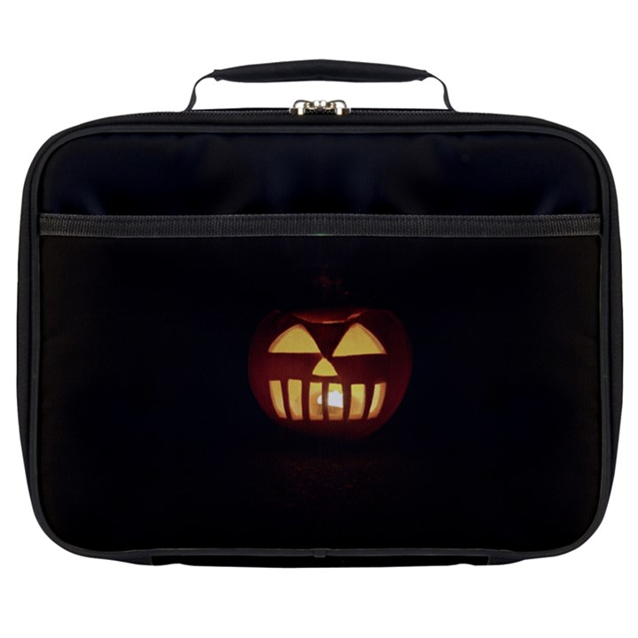 Funny Spooky Scary Halloween Pumpkin Jack O Lantern Full Print Lunch Bag
