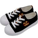 Funny Spooky Scary Halloween Pumpkin Jack O Lantern Kids  Low Top Canvas Sneakers View2