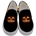 Funny Spooky Scary Halloween Pumpkin Jack O Lantern Men s Canvas Slip Ons View1