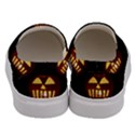 Funny Spooky Scary Halloween Pumpkin Jack O Lantern Men s Canvas Slip Ons View4