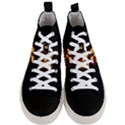 Funny Spooky Scary Halloween Pumpkin Jack O Lantern Men s Mid-Top Canvas Sneakers View1