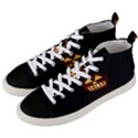 Funny Spooky Scary Halloween Pumpkin Jack O Lantern Men s Mid-Top Canvas Sneakers View2