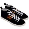 Funny Spooky Scary Halloween Pumpkin Jack O Lantern Men s Mid-Top Canvas Sneakers View3
