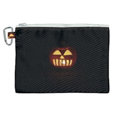 Funny Spooky Scary Halloween Pumpkin Jack O Lantern Canvas Cosmetic Bag (xl)