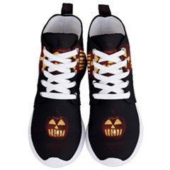 Funny Spooky Scary Halloween Pumpkin Jack O Lantern Women s Lightweight High Top Sneakers