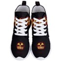 Funny Spooky Scary Halloween Pumpkin Jack O Lantern Women s Lightweight High Top Sneakers View1