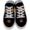Funny Spooky Scary Halloween Pumpkin Jack O Lantern Half Slippers View1