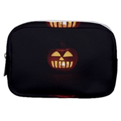 Funny Spooky Scary Halloween Pumpkin Jack O Lantern Make Up Pouch (Small)