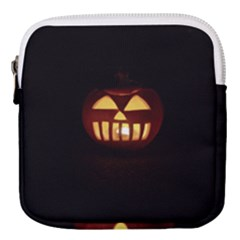 Funny Spooky Scary Halloween Pumpkin Jack O Lantern Mini Square Pouch