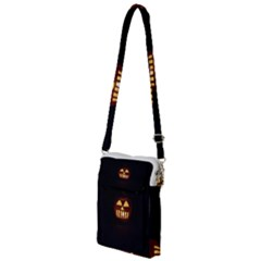 Funny Spooky Scary Halloween Pumpkin Jack O Lantern Multi Function Travel Bag