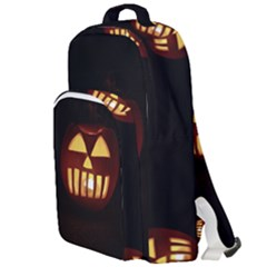 Funny Spooky Scary Halloween Pumpkin Jack O Lantern Double Compartment Backpack