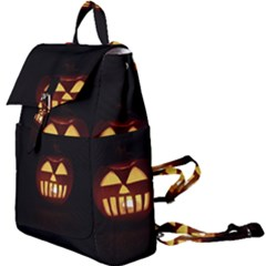 Funny Spooky Scary Halloween Pumpkin Jack O Lantern Buckle Everyday Backpack