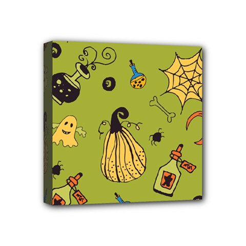 Funny Scary Spooky Halloween Party Design Mini Canvas 4  X 4  (stretched) by HalloweenParty