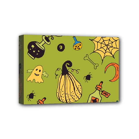Funny Scary Spooky Halloween Party Design Mini Canvas 6  X 4  (stretched)