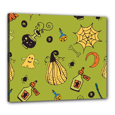 Funny Scary Spooky Halloween Party Design Canvas 24  X 20  (stretched) by HalloweenParty