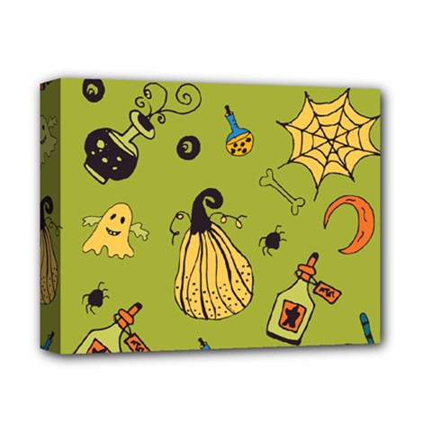Funny Scary Spooky Halloween Party Design Deluxe Canvas 14  X 11  (stretched) by HalloweenParty