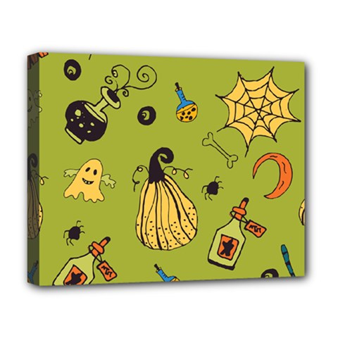 Funny Scary Spooky Halloween Party Design Deluxe Canvas 20  X 16  (stretched)