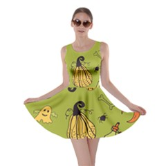 Funny Scary Spooky Halloween Party Design Skater Dress by HalloweenParty