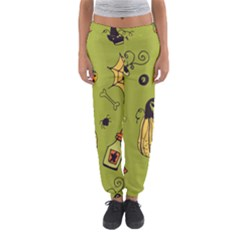 Funny Scary Spooky Halloween Party Design Women s Jogger Sweatpants