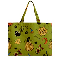 Funny Scary Spooky Halloween Party Design Zipper Mini Tote Bag