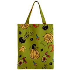 Funny Scary Spooky Halloween Party Design Zipper Classic Tote Bag